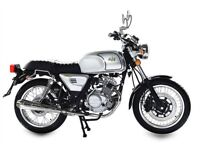 NEW AJS TEMPEST 125CC, OWN FOR £10.63 PER WEEK