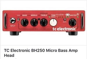 Matched pair TC Electronic bass head and cabinet