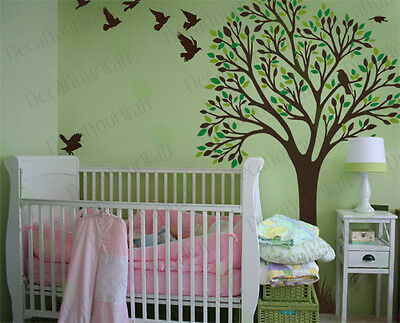 Nursery Tree Wall Decals Large Tree Wall Stickers Kids Room Wall Decor Removable