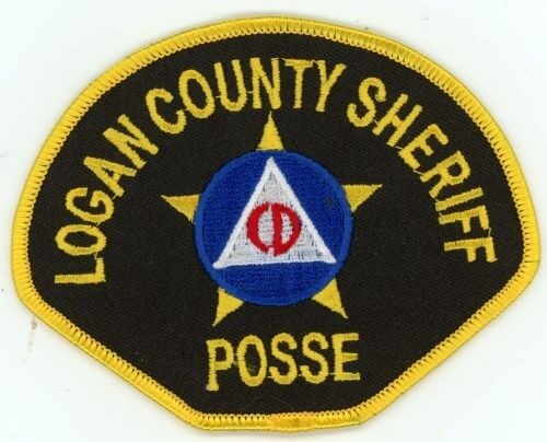 LOGAN COUNTY SHERIFF POSSE COLORADO CO COLORFUL PATCH POLICE