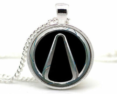 Vintage Borderlands Game Cabochon Tibetan silver Glass Chain Pendant Necklace (Necklace Game)