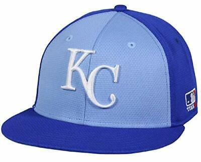 Kansas City Royals MLB OC Sports Blue Flat Colorblock Hat Cap Adult Adjustable
