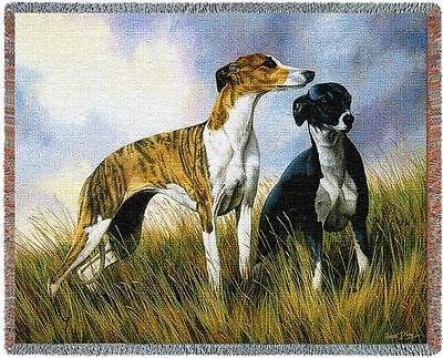 - Throw Tapestry Afghan - Greyhound Pair by Robert May 2006