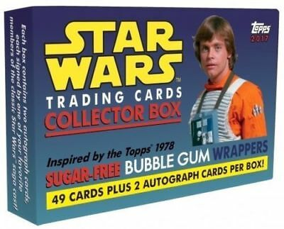 2017 Topps Star Wars Sugar-Free Bubble Gum Wrappers Complete Base Set /w Box 49