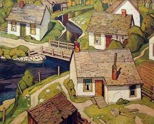 """A.J. Casson """"Mill House"""" Lithograph - Appraised at $2000"""