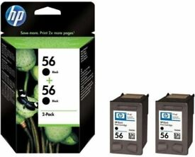 Genuine Original HP 56 Black C9502AE Twin Pack Ink Cartridges