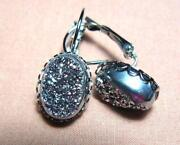Titanium Druzy Earrings