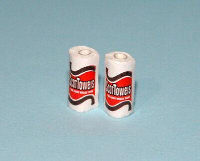 Dollhouse Miniature Set of 2 Paper Towel Rolls 1:12 Scale #HD177