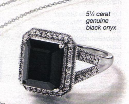 Avon Black Onyx Ring Ebay
