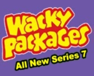 Wacky Packages ANS7 series 7 base set of 55 stickers + Several Extras