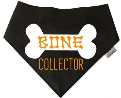 Spoilt Rotten Pets Bone Collector Dog Bandana Halloween Costume Dog Fancy Dress - Halloween Bone Collector