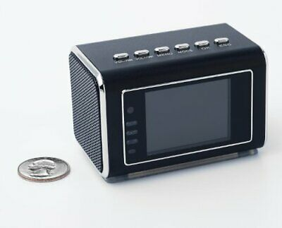 Jumbl™ Mini Camera Radio Clock w/Infrared Night Vision - Black ()