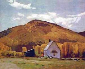 """A.J. Casson """"School House at Halfway Lake"""" Litho-Appraised $500"""