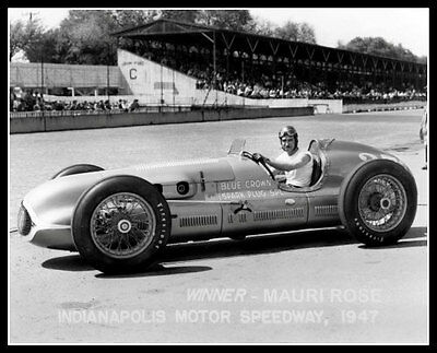 Indy 500 Winner Mauri Rose Photo 8X10 Indianapolis 1947 Race Speedway