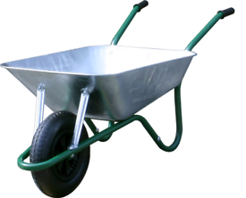 New galvanised 85lt Garden wheelbarrow