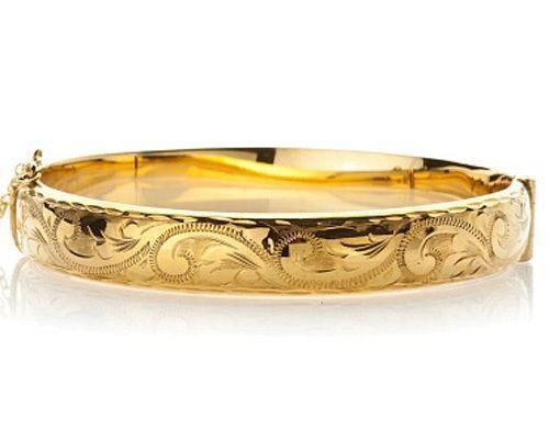 9ct Rolled Gold Bangle Ebay