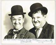Laurel Hardy Signed
