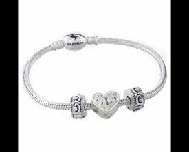 Brand new boxed Chamilia 3 bead bracelet * Xmas gift idea RRP £150 *