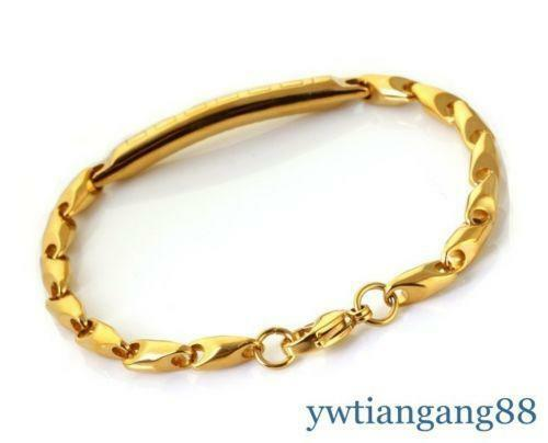 Mens Gold Plated Bracelet Ebay