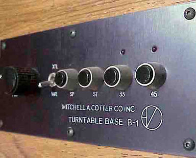 M A COTTER B1 TURNTABLE with ARMBOARD for FIDELITY RESEARCH FR66SS MADE IN USA/