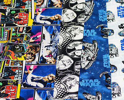 Craft-Quilting Home Furnishing LICENSED DISNEY STAR WARS FAT QUARTERS BUNDLE