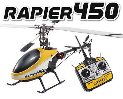 Top Gun Rapier Pro 450 Helicopter RTF 6 Channel 3D With 2.4G Radio System TGH006 (450 3d Hubschrauber)