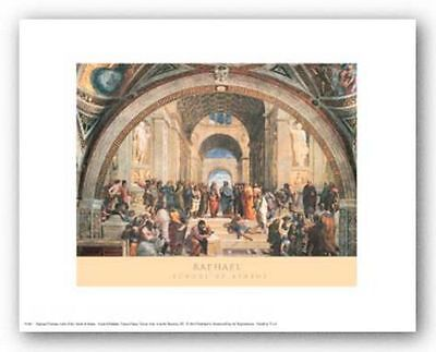 MUSEUM ART PRINT School of Athens Raphael Raffaello 10x8