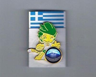 SOUTH AFRICA 2010 WORLD CUP GREECE ZAKUMI MASCOT PIN segunda mano  Embacar hacia Argentina