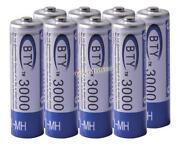 8 AA Rechargable Batteries