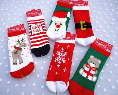 Soft Kids Toddler Boys Girls Cotton Christmas Socks for 1-6