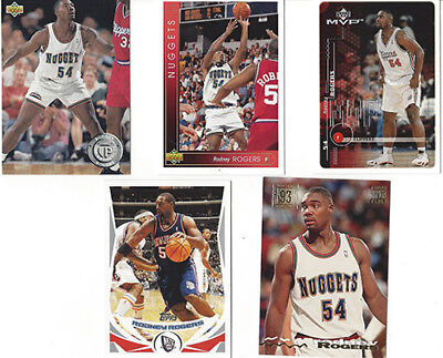 e87c143396 WAKE FOREST ~ RODNEY ROGERS 2 ~ LOT OF 10 CARDS ~ WAKE FOREST, DENVER  NUGGETS