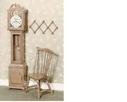 Dollhouse Miniatures 1:12 Scale Brown Grandfather Clock Kit Item #CB2100