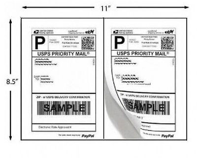 1000 Shipping Labels Paypal Click Ship Fedex Ups Laser Inkjet Printer Label