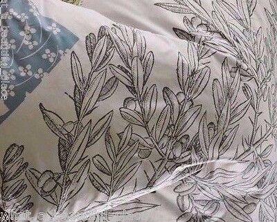 (1) Kas Letters From Paris Standard Pillow Sham Light Gray Blue Floral Branches