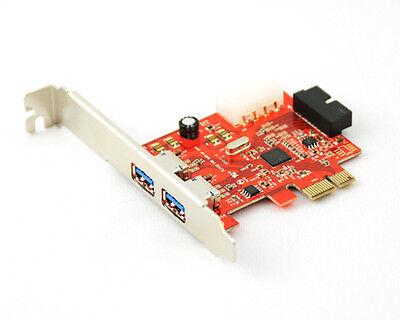 3 Port 2 + 1 USB 3.0 PCI Express Computer Card PC Karte Controller Hub Adapter