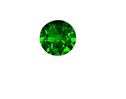 5 mm Round Chrome Diopside Fine Deep Rich Green Faceted AAA Gem