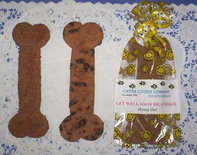 GOURMET ALL NATURAL DOG TREATS - GET WELL SOON BIG BONE COOKIE - 12 FLAVORS! All Natural Dog Cookie