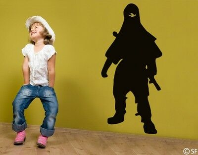 Wandtattoo Ninja Kämpfer Kinderzimmer Spielzimmer Wandaufkleber Flur Tür - Ninja Tur