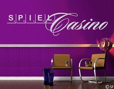 Wandtattoo Casino Scrabble spielen Denksport Spielcasino uss352