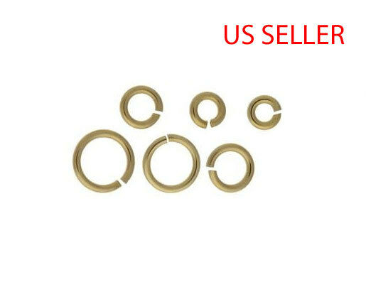 1 pc 14k yellow gold open jump ring 1 MM Thick  --  4 5 6 7 8 9 10 MM
