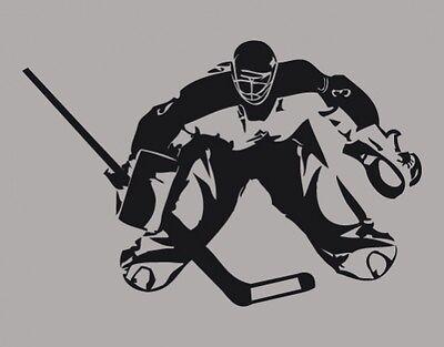 Wandtattoo Sport Eishockeytorwart Wandaufkleber Kinderzimmer Wandsticker wal041