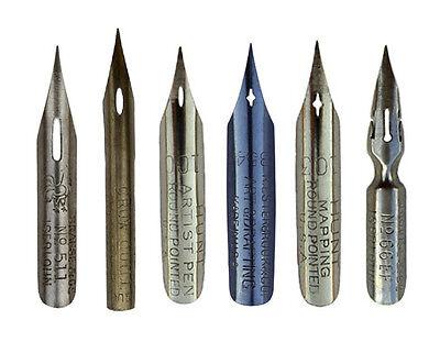 Kalligraphie Zeichenfedern, pen nibs, plumes, mapping, drawing, zeichnen