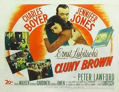 CLUNY BROWN Movie POSTER 27x40 B Charles Boyer
