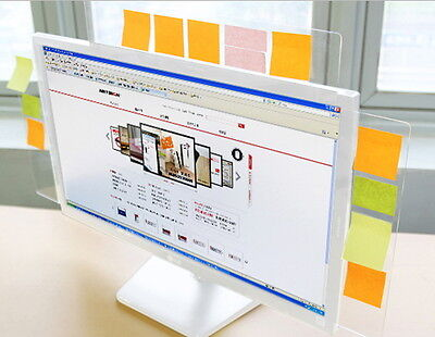 Monitor Memo Board Computer Screen Post-it Holder Sticky Note New Office Home