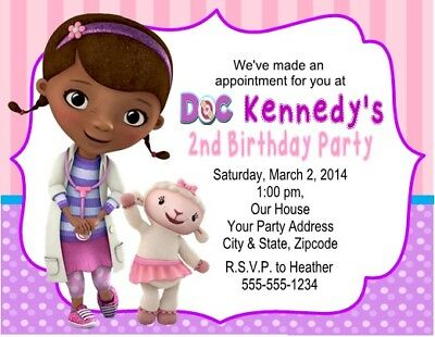 Doc McStuffins Princess Birthday Party Invitations Personalized Custom](Doc Mcstuffins Custom Invitations)