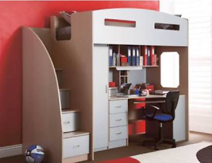 Odyssey Space Saver Bunk with Study Desk Paralowie Salisbury Area Preview