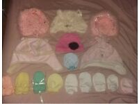 12 months hats & mittens bundle