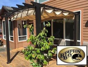 NEW* HAMPTON BAY 9FTx9FT PERGOLA - 119851975 - Outdoors Patio Furniture Gazebos Pergolas Pergolas