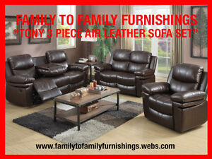 928 00 Winter Clearout Tony 2pc Air Leather Sofa Set Mississauga