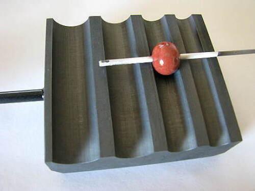 Devardi Glass Graphite Marver~ ROUND BEAD ROLLER/SHAPER, Lampwork Bead Making